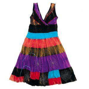 RISING INTERNATIONAL Women's Striped V-Neck Dress